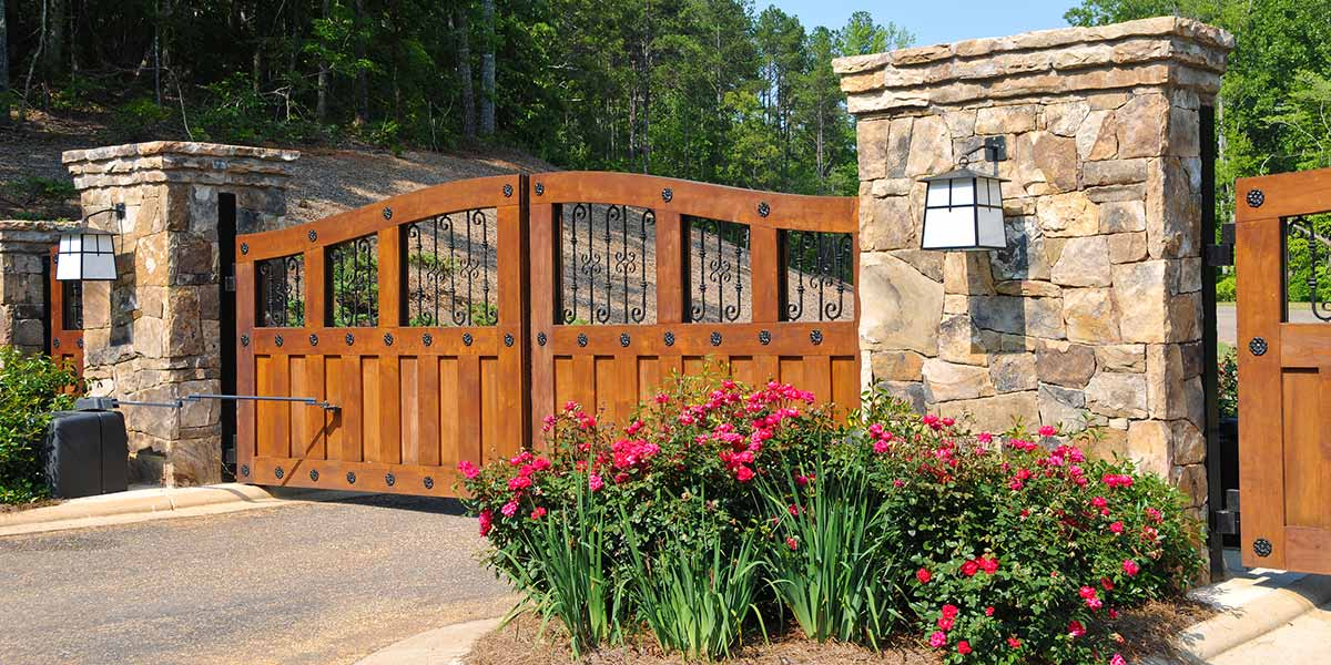 custom made wooden security gates in tallahassee